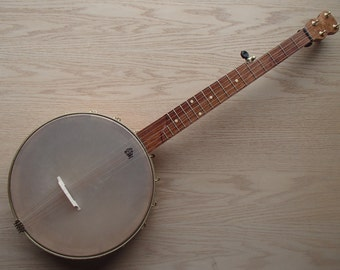 """Cherry 5 String 12"""" Open Back Banjo With Brass Hardware #43"""