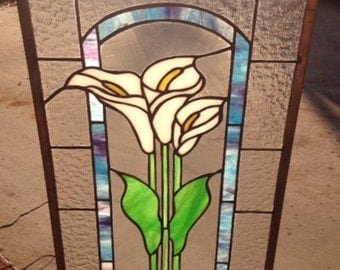 Calla Lillies in Stained Glass