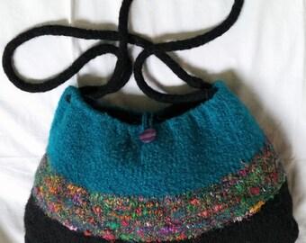 Hand Knit, Felted Handbag, #21