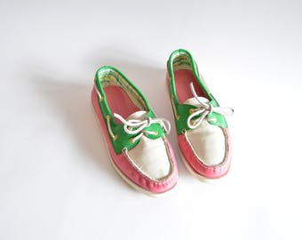 Vintage COLORBLOCK sperry topsiders / 10