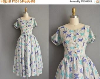 25% off SHOP SALE... Jonathan Logan 50s butterfly print vintage dress / vintage 1950s dress