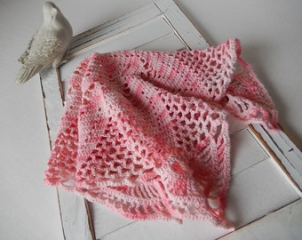 Cottage Pink Doily Vintage Crocheted Home Decor by Perch and Patina