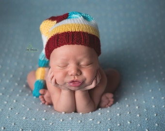 Knit Baby Hat, Photography Prop, Baby Hat, Newborn Baby Hat, Photo Prop, Knit Photo prop, Photo Shoot Prop, Striped Hat, Pick your colors
