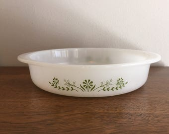 glassbake round glass cake pan