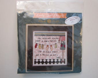 Curly Girl Design counted cross stitch kit - SIMPLE WISH - kit CG30-3201 - 2013 - her wish was simple