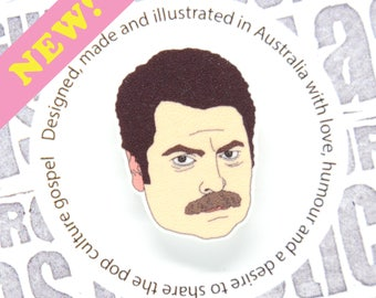 Parks and Recreation - Ron Swanson Pin