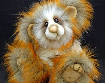 Chestnut a Capability Bear. A Faux Fur and Mohair Artist Bear By Bears of Bath  9 inches