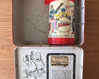 Vintage 1969 The Archies Metal Lunch Box with Thermos
