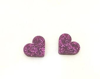 sweet hearts  laser cut earrings (choose your colour) heart, glittler, teal, black, rose, silver, gold, magenta, multi,mirror