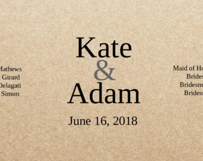 Kraft Wedding Sticker- BEER BOTTLE Labels - 7 in x 3 in- Set of 18 blank or with custom printing