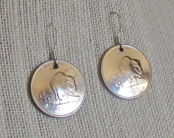 State Quarter Earrings - 2005 Kansas ON SALE