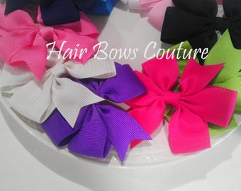 set of 10- Pinwheel Hair Bows Hair Bows for Newborns Toddlers and Girls Hair Bows Easter Small Hair Bows