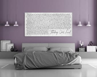Anniversary Gift, 5th Anniversary Gift, 5 Year Anniversary, First Dance Song Artwork, Custom First Dance Lyrics, Personalized Home Decor