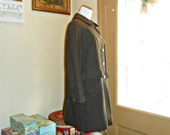 Womens Coats Brown Wool Coat 60s Coat Preppy Coat Peter Pan Collar Coat Winter Coat