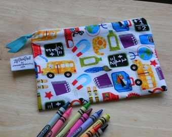 "Zippered Reusable Snack Sack, Half Size - 7.5"" x 5""-  EcoFriendly, Machine Washable"