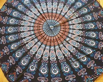 "Mandala Tapestry in Chiffon - 60"" (150cm) diameter"