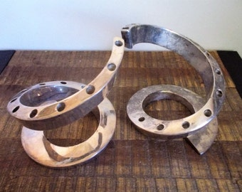 Pair of Dansk Silverplate Spiral Candleholder