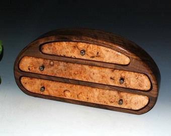 Small Wood Jewelry Box - Maple Burl on Walnut - Handmade Jewelry Box - Burl Jewelry Box, Walnut Jewelry Box, Wooden Jewelry Box - Wood Boxes