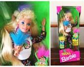 Vintage Troll Barbie 1992 NIB New in Box Mini Troll Mattel