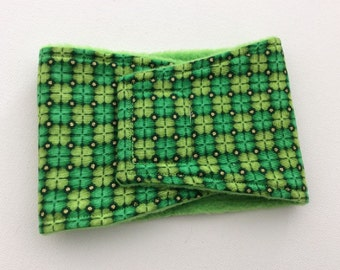 Belly Bands for Male Dogs - Belly Band - Male Dog Diapers - Male Dog Belly Band - Green with Gold Sparkle Dots -Available in all Sizes