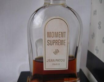 Vintage Moment Supreme Perfume Jean Patou Paris France approx 1/4 oz in 2 oz bottle  in Box