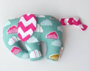 Elephant -- softie -- elephant softie -- soft elephant toy -- baby girl -- baby gifts -- plush elephant -- plushie -- nursery -- little seb