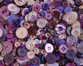 50 Purple Buttons, Shades of Purple , Sugar Plum  Mix, Assorted sizes, Sewing, Grab Bag, Crafting, Jewelry (1441)