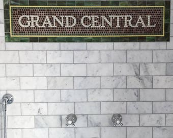 NYC Subway Mosaic Tile Install for Bathroom / Kitchen / Backsplash - Mosaic Install - Grand Central
