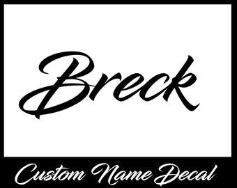 Custom Vinyl Decal - Name Decal - Custom Vinyl - Car Decal - Any Word Decal