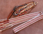 Wool Sash Handwoven for Period Costume, Living History, Woven Strap