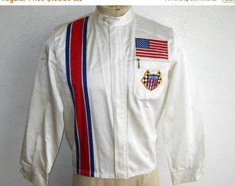 HOLIDAY SALE Vintage 70s Indianapolis Motor Speedway Auto Club Indy 500 Nylon Racing Stripe Jacket