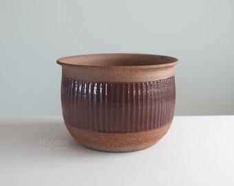 Vintage Modern Studio Pottery Signed Stoneware Planter Pot