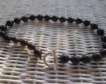 470  Brown beaded handmade necklace