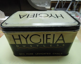 vintage Hygiea chalk box, advertising box, tin box, school chalk