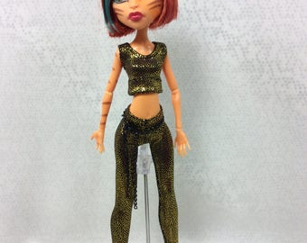 chartreuse Pants Set Designed for Your Monster High Doll