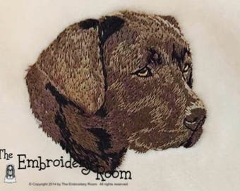 Labrador-Silver Lab-Custom Embroidered Dog Blanket