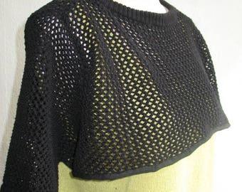 black  net shrug