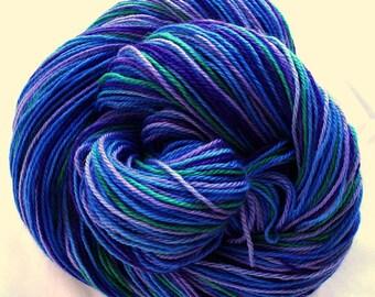 "SW Merino/Cashmere/Nylon Hand Dyed Yarn  ""Fibery Jewels"""