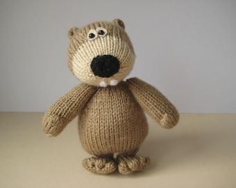 Foggy the Beaver toy knitting pattern