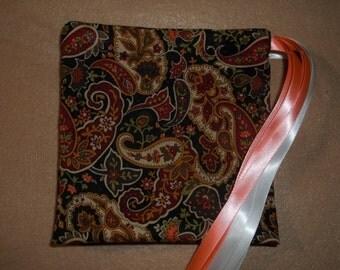 Autumn Paisley drawstring gift/treat/goody/storage bags