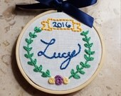 Personalized Memorial Christmas Ornament Embroidery Hoop // Baby's First Christmas // Miscarriage Remembrance // Infant Loss Remembrance