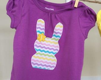 Bunny Shirt-Rabbit Shirt-Spring Shirt-Easter Shirt-Purple Shirt-Blue Shirt-Yellow Shirt-Jellybean Shirt-Chevron Shirt