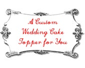Custom Brown Bear Wedding Cake Topper