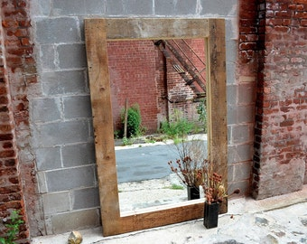 Reclaimed Wood Monster Mirror