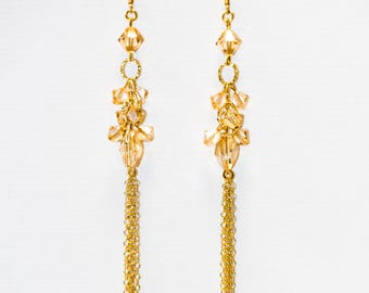 0065- Golden Shadow Swarovski Crystal Drops