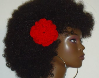 Choose 2 Crochet Flower Hair Clips by Razonda Lee Razondalee Many colors to choose from