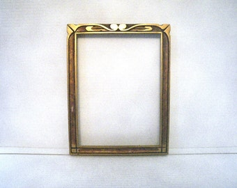 Gilt Art Nouveau / Arts & Crafts Wood Frame - Chic and Shabby