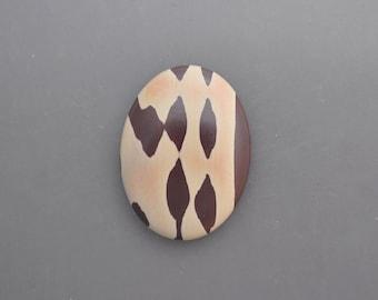 Zebra Print Stone Cabochon