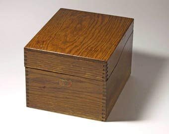 Vintage Large Index Card File Box - By Weis - circa 1940's