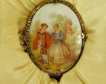 Vintage Mary Chess Solid Perfume Locket with Original Box Victorian Lovers Perfume Locket Fragonard Oval Cream Perfume Compact